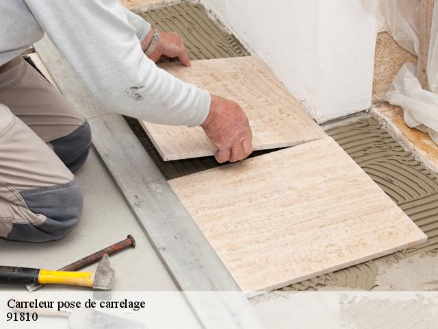 Carreleur pose de carrelage  91810