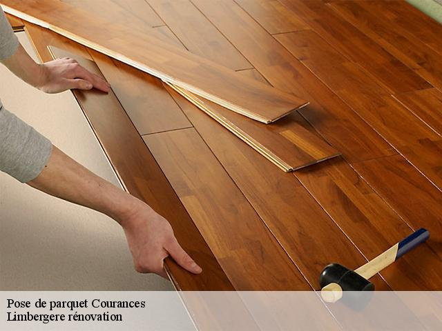 Pose de parquet  courances-91490